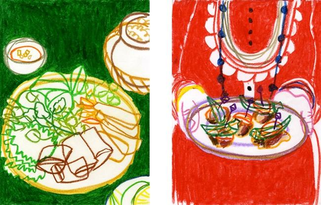 Aunyarat Watanabe | <ベトナム春巻き、インドタンドリーチキンとオクラの前菜>