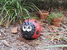 My Ladybug Bowling Ball mosaic