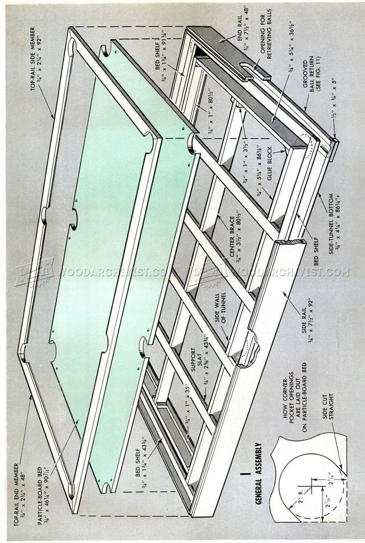 #3070 DIY Pool Table   Woodworking Plans