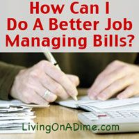 Do you find you are always behind on your bills? Click here to find out how to make bill paying easier! http://www.livingonadime.com/job-managing-bills/