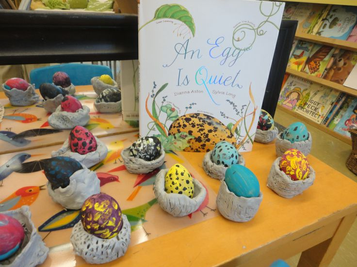 Nests and Eggs project. Bird inquiry, clay work, art studio projects.