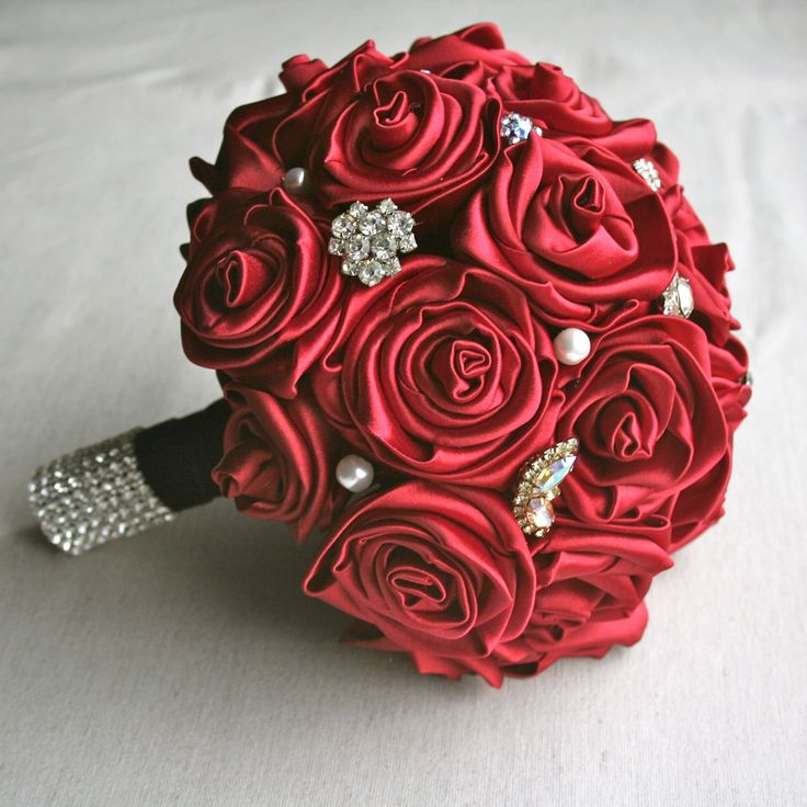 I think I could make this...Rose Vintage Jewelry Bouquet - Custom. $75.00, via Etsy.