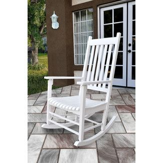 Found it at Wayfair - Shine Company Inc. Vermont Porch Rocker Chair - Finish: White