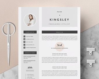 Teacher Resume CV Design Cover Letter Template par OddBitsStudio