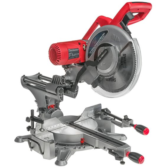 """Swarts Tools 305mm 12"""" Sliding Compound Mitre Saw Belt Driven Double Bevel Drop Saw (SW1045) - Swarts Tools"""