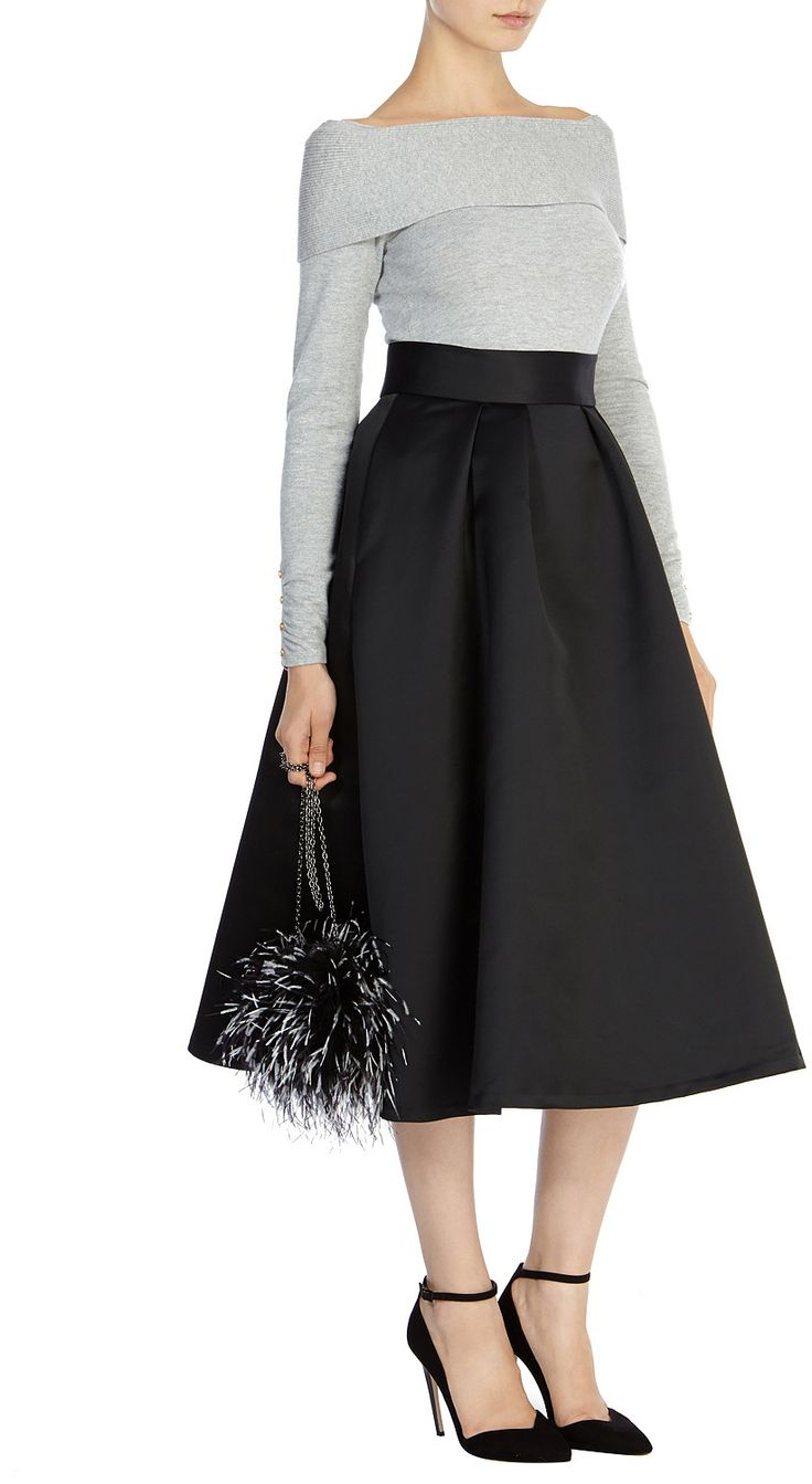 Womens light grey bardot top from Coast - £69 at ClothingByColour.com