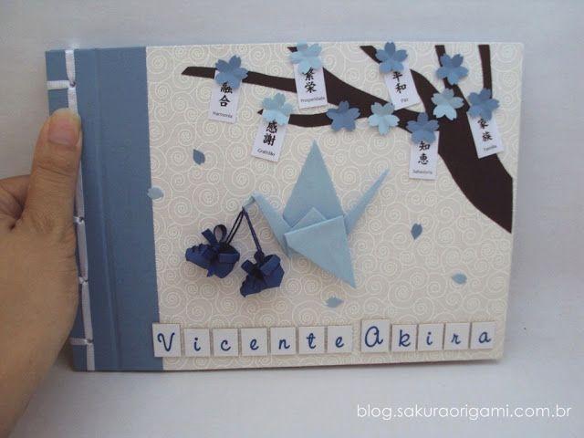 álbum de fotos do bebê - tsuru e sapatinhos de origami #gestantes #nascimento…                                                                                                                                                                                 Mais
