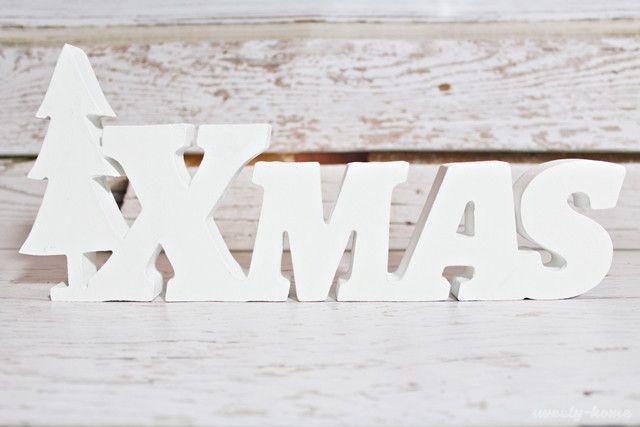 NAPIS XMAS świąteczny stojący litery 3D dekoracja - sweety-home - Litery i napisy