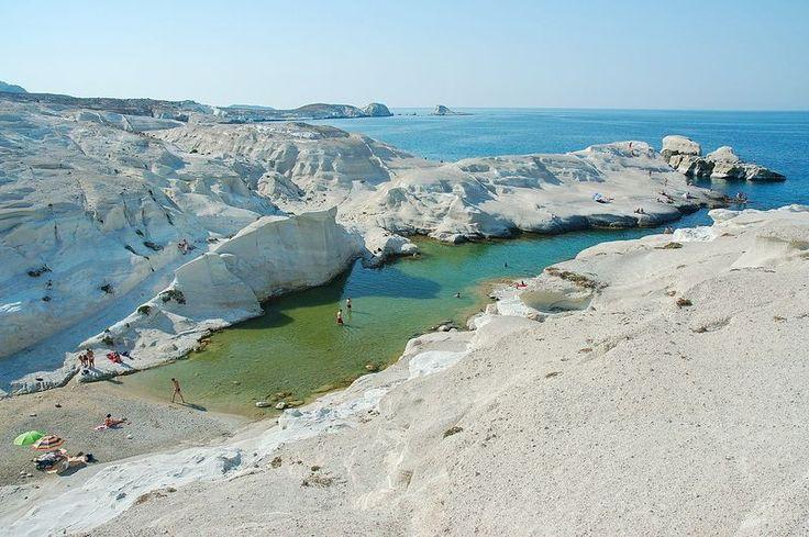 Sarakiniko - Milos Island, Greece.  AEGEAN ISLANDS ...