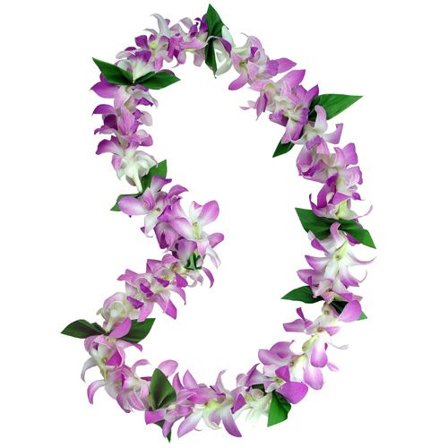 For Alex- TuTone Orchid and Tuberose Wedding Lei with Ti Leaf (3315) http://www.hawaii-wedding-flowers.com/tutone_orchid_and_tuberose_wedding_lei_with_ti_leaf_3315.html