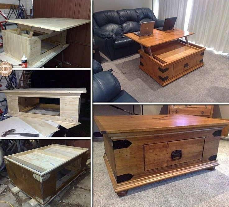 17 best images about diy funiture ideas on pinterest craft rooms desks and pallets - Coffee table converts to desk ...