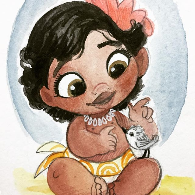 Bebbeh Moana and Piper! | artist: Amy Mebberson