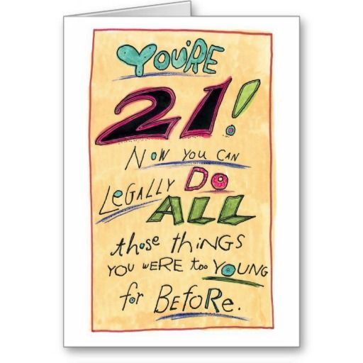Are you looking for Humorous Happy 21st Birthday Card Legally – Birthday Card 21