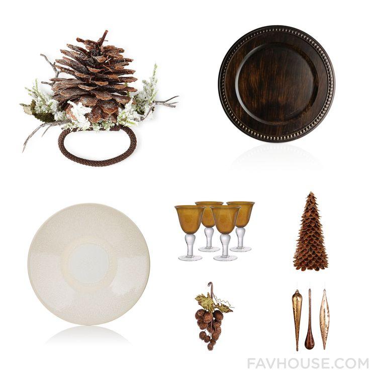 Home Mix & Match Featuring Deborah Rhodes Napkin Ring Brown Dinnerware Jars Dinnerware And Wine Glass From December 2016 #home #decor