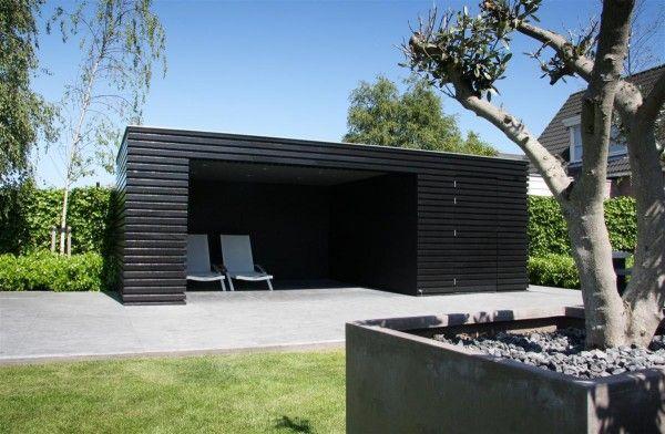 Tuinhuis overdekt terras buitenberging idee n voor het huis pinterest for Terras modern huis