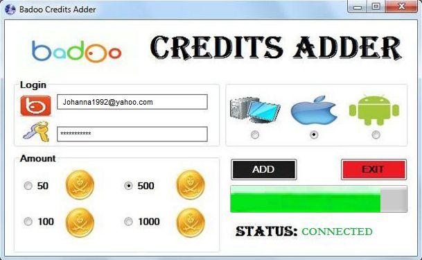 Badoo Credits Adder Generator