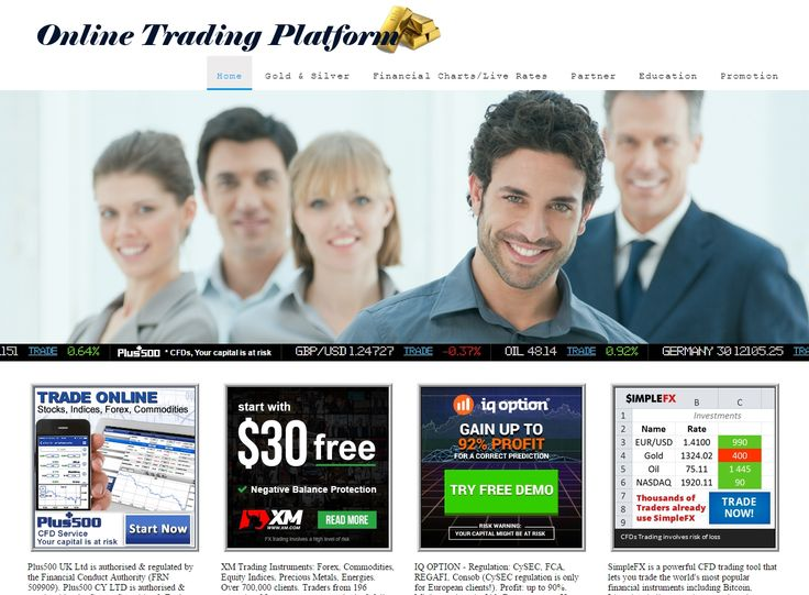 Online Trading Platform http://onlinetradingplatform4u.com   Trade Stock, Indices, Forex, Futures, Currencies, Commodities (CFDs), Oil, Gold, Silver, Binary Option, Bitcoins & etc.   LIVE Rates & Financial Charts. http://onlinetradingplatform4u.com/LiveRateComplete.html  http://onlinetradingplatform4u.com/goldsilver.html LIVE & HISTORICAL Gold, Silver, Palladium & Platinum Spot Price.  ***Risk Warning: Trading carries high risk and is not suitable for all investors.