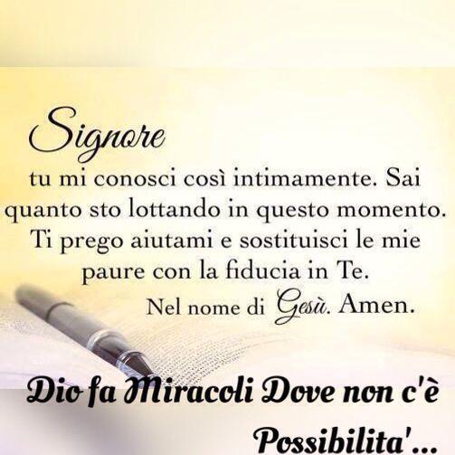 Le Preghiera è  La Chiave  Per Ricevere  La Benedizione  Di Dio Sulla tua Vita.!!  Le grandi battaglie le ho vinte con te Gesù grazie ti amo ❤ -C'K.