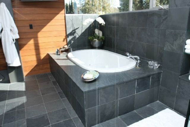 black slate tile bathroom 17 best images about ideas for guest bathroom w black 17417