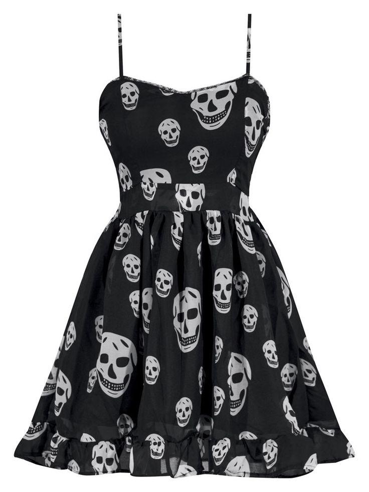 Miss Poison Skull Chiffon Dress