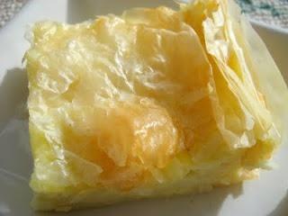 Cheese Burek (or Placinta de Branza)...Cheese Filled Phyllo Pie.