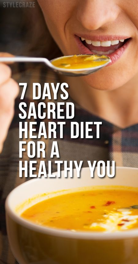 7 Days Sacred Heart Diet For A Healthy You