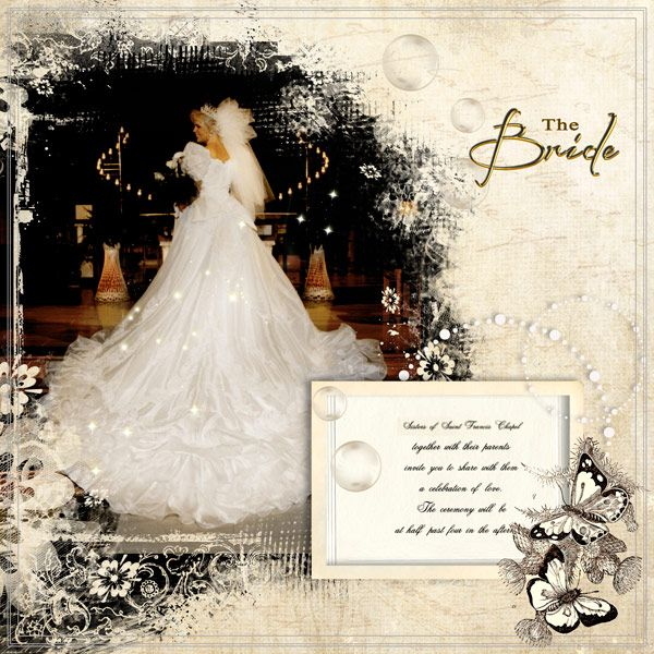 The Bride by Tbear. Kit used: Smell of Summer http://scrapbird.com/designers-c-73/d-j-c-73_515/graphic-creations-c-73_515_556/smell-of-summer-by-graphic-creations-p-16251.html AND Art Template Vol 1 http://scrapbird.com/designers-c-73/d-j-c-73_515/graphic-creations-c-73_515_556/art-template-vol1-by-graphic-creations-p-16828.html