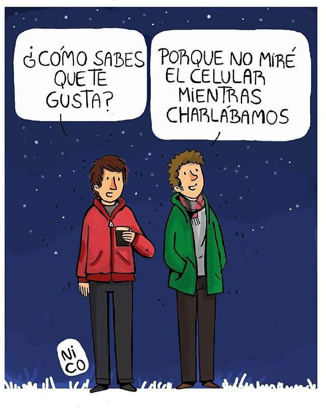 Cómo sabes que te gusta? . por Nicolas Vilela . . #pelaeldiente . #comics #cari…