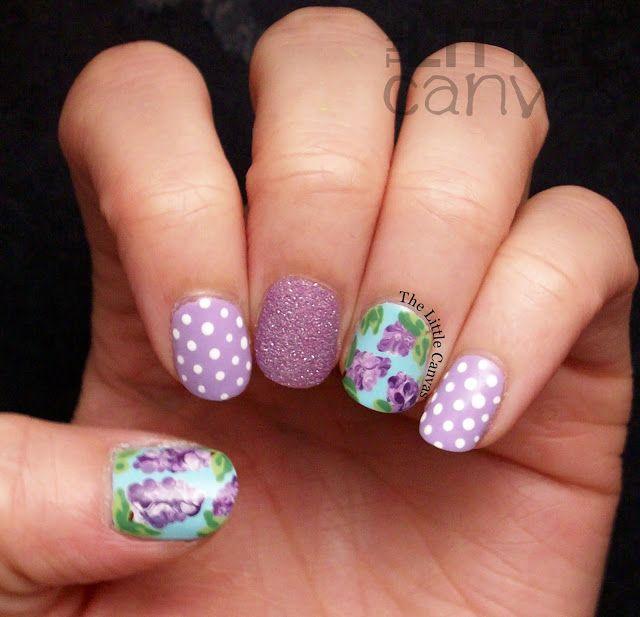 Little Google1 Nail Art: The Little Canvas: Lilac Nail Art