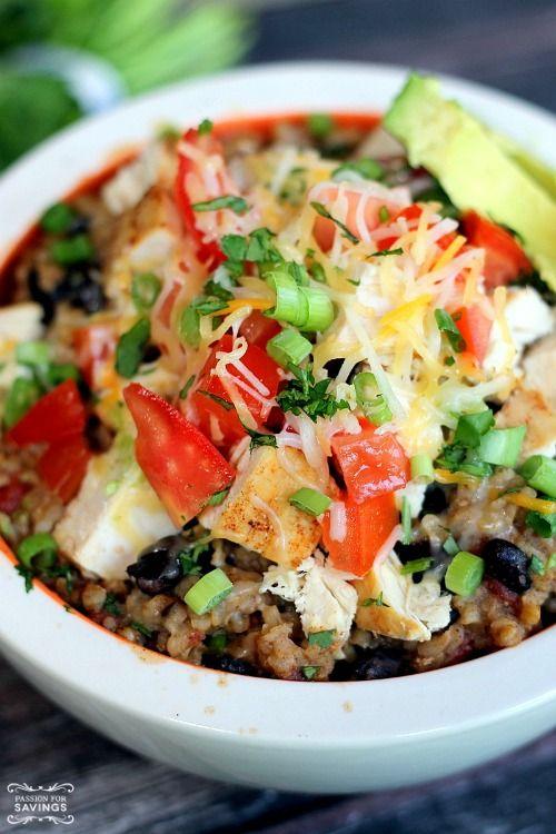 Crockpot Chicken Burrito Bowls Easy Recipe