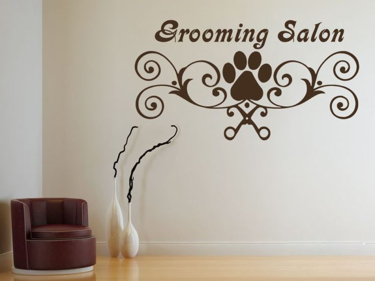 Wall Decals Grooming Salon Decal Vinyl Sticker Dog Pet Shop Bedroom Decor  MS535