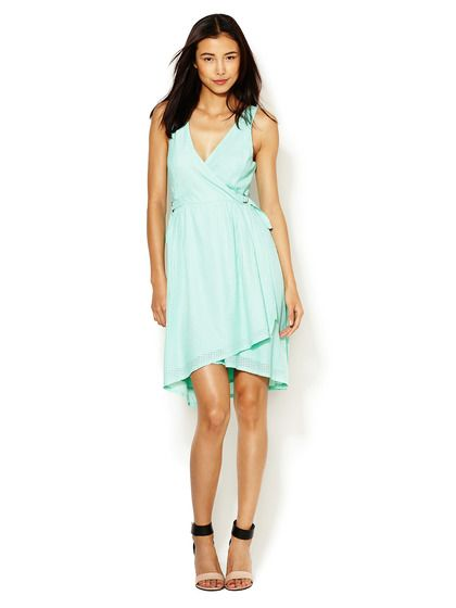 Perforated Mesh Wrap Dress by Qi at Gilt