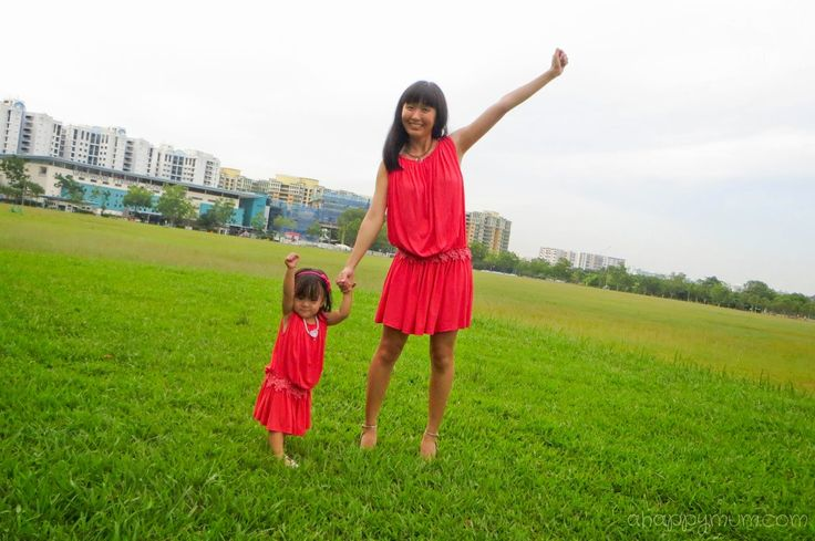 A Happy Mum | Singapore Parenting Blog: Matchy-matchy mother and daughter wear from MidouCeur