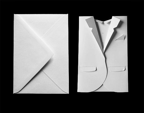 """""""For the celebration of Acne Paper's  5th issue — the elegant issue — I constructed an invite reflecting  the dress code of the event."""" Daniel Carlsten"""