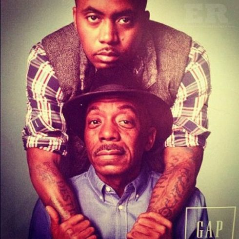 Nas and his father in a GAP ad.. *Love It!*