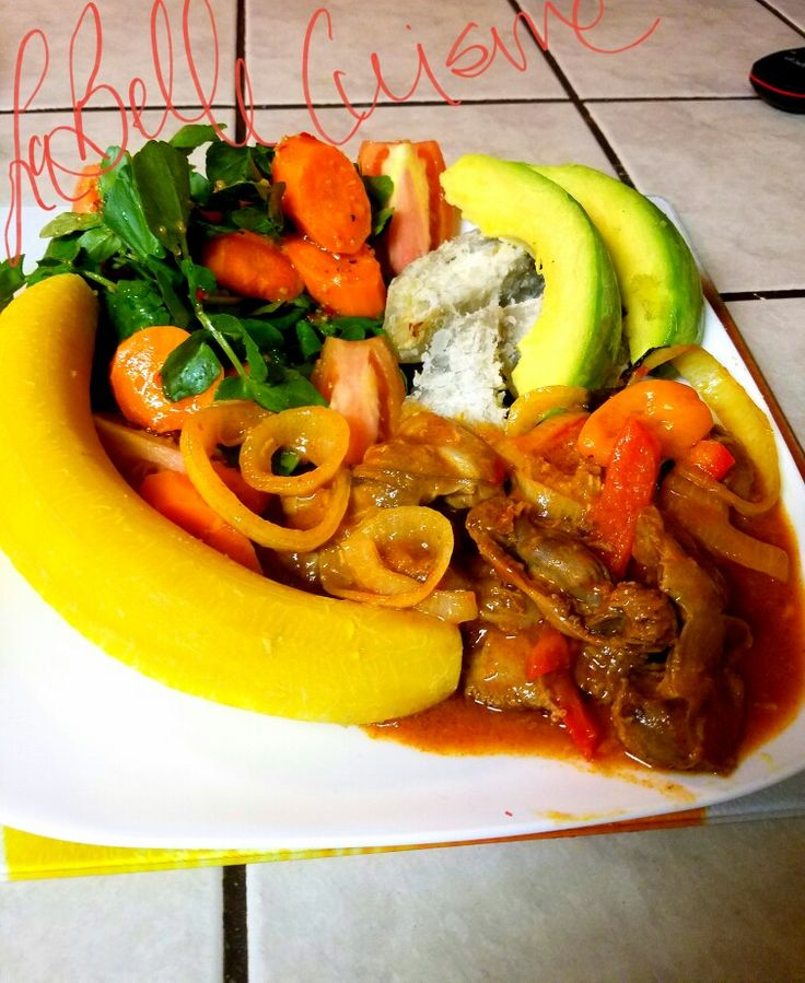 Haitian breakfast(plantain,sweet potatoes,carrots ...