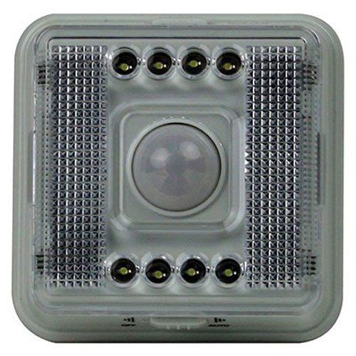 Dorcy International 41-1079 2-AA Battery Operated Indoor Motion Sensing LED Anywhere Light, White