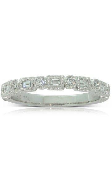 18ct white gold .34ct diamond band
