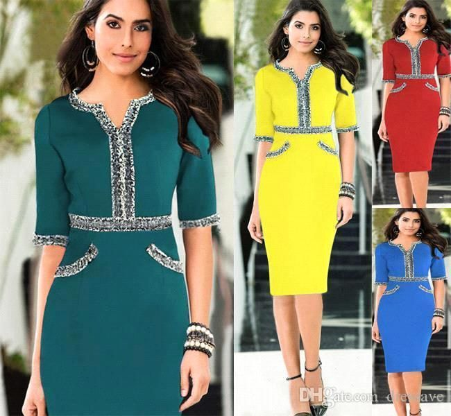 2017 New Hot Summer Dress Office Dress 2015 Cheap Party Tunic Pencil Bodycon Women Dresses Fashion Casual Work Ladies Trendy Clothes Oxl140804 From Dressave, $25.65 | Dhgate.Com