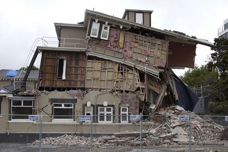 GNS said ground acceleration more than twice that of gravity in some parts of Christchurch was the strongest recorded in a New Zealand quake and up to four times greater than the maximum acceleration measured in last week's magnitude-9.0 quake