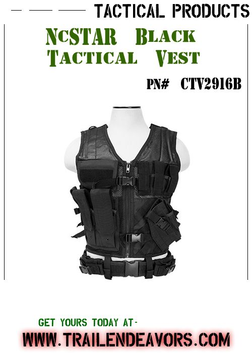 NcSTAR Black Tactical Vest - Fully adjustable Tactical Vest that helps keep your shooting gear organized for easy access, so that your shooting gear is right where you need it when you out in the field. GET YOUR TODAY!