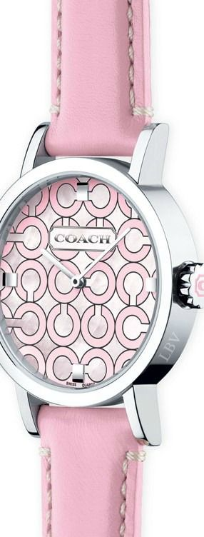 "Coach's ""Think Pink"" watch 