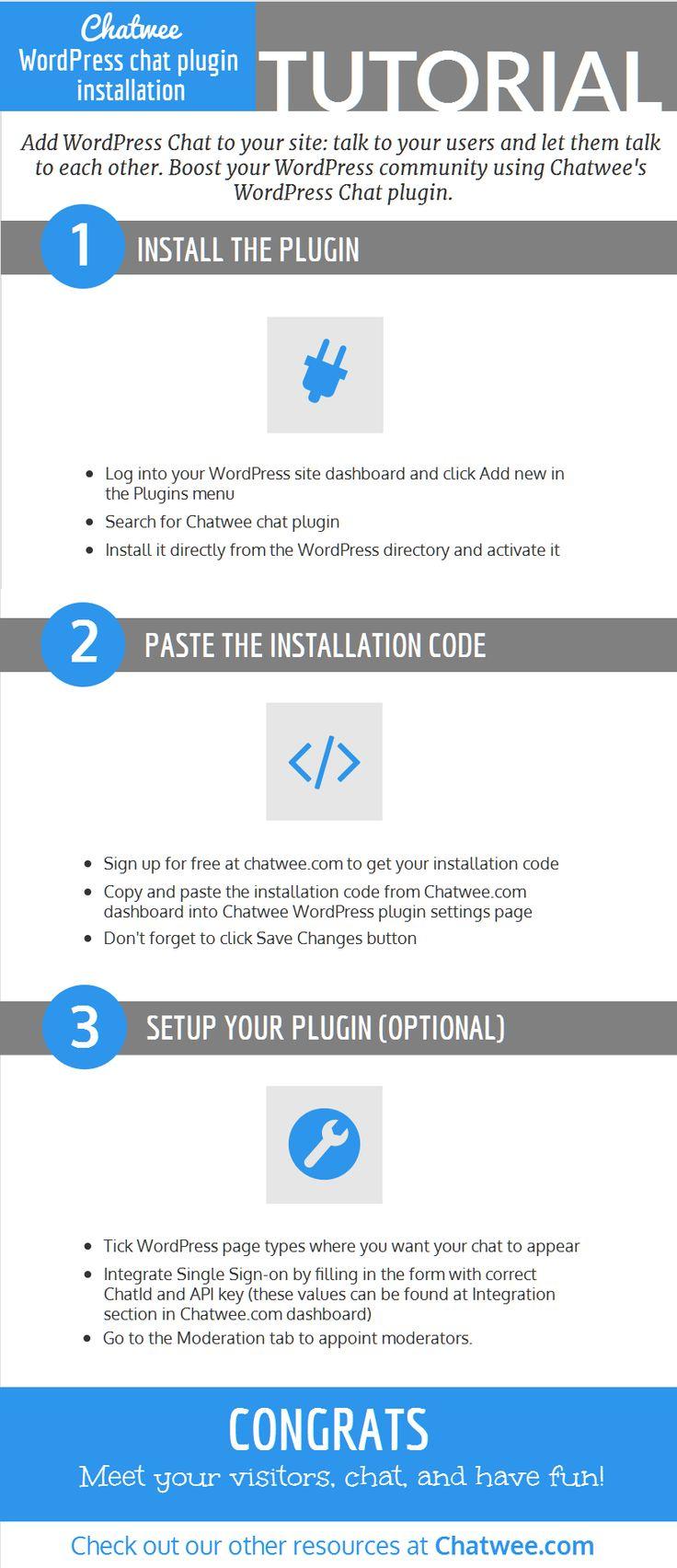 WordPress live chat widget installation tutorial.