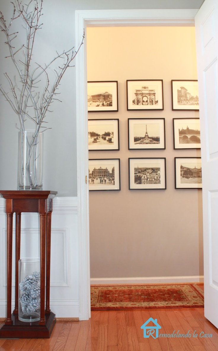 Sherwin Williams Requisite Gray!: Photo Display, Display Inspiration, Paris Galleries, Travel Photo, Travel Frames, Holidays Photo, Decor Inspiration, House, Colors Changing