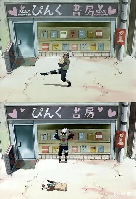 Kakashi and his fangirl moments. XD