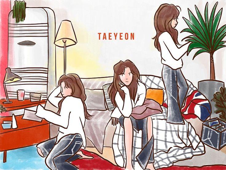 Taeyeon fine sticker by rurui02 taeyeon fine