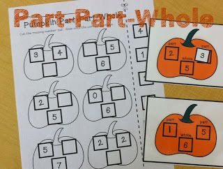 Halloween Math- part, part, whole pumpkins