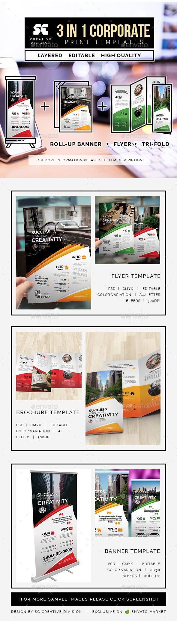Corporate Bundle 3 In 1 #SignageDesign #GraphicResources #GraphicDesigner #Signa...