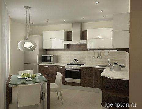 Квартира для молодой пары. Кухня. Дизайнер: Ирина Кигель #дизайнинтерьера #igenplan #дизайнквартиры  #интерьерквартиры