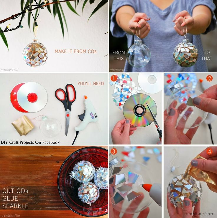 Christmas Ornaments from CDs
